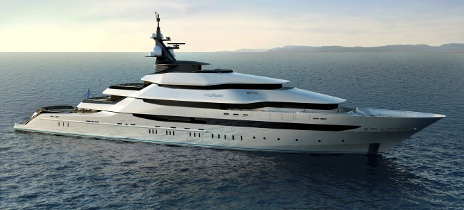 The Y708 Oceanco Yacht Design at  85m LOA