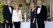 Zbynek and Susanne Zak - The Westward Cup 2010 - and Linda and Michael Campbell Westward Cup Regatta Prizegiving photo credit RYS.