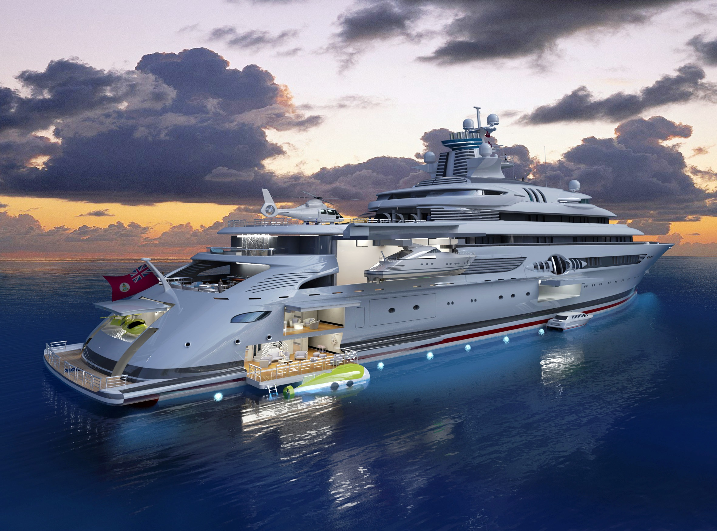 A Rendering Of The Blohm Voss 120 Metre Expedition Motor