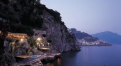 Amalfi Coast at night in Italy