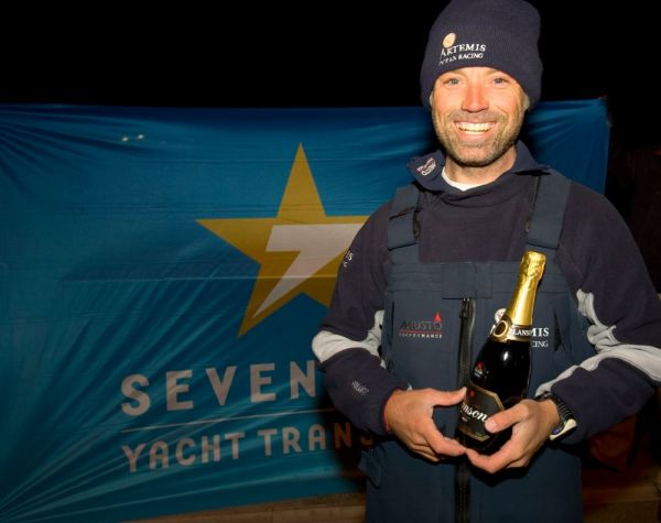 Sailing Yacht Artemis finishes Sevenstar Round Britain and Ireland race Photo Credit - Patrick EdenRORC