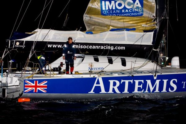 Artemis finishes Sevenstar Round Britain and Ireland race. Photo  Patrick EdenRORC