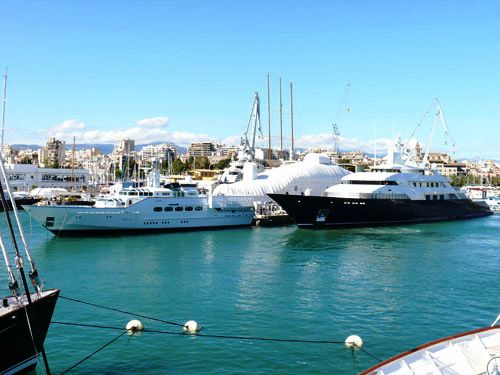 Feadship motor yacht Paraiso alongside motor yacht Limitless at the Astilleros de Mallorca yard - Photo Credit Astilleros de Mallorca