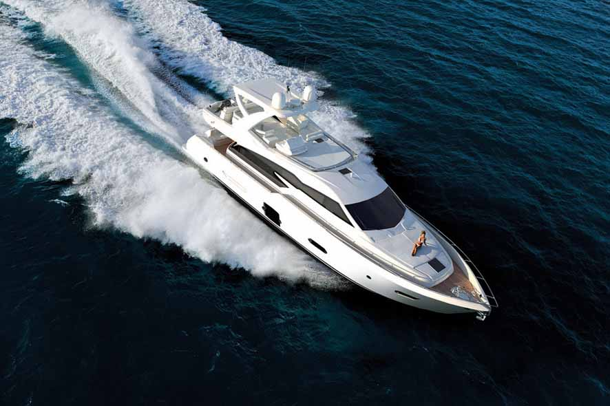 This image is featured as part of the article Ferretti 720 Yacht Project.