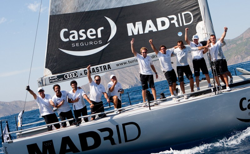 Gp42 madrid caser seguros celebrates the victory on the - Caser seguros madrid ...