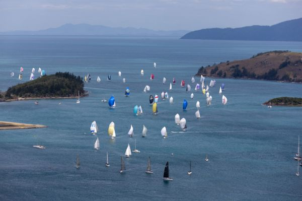 ... and sailing enthusiasts were kept on the edge of their seats, ...