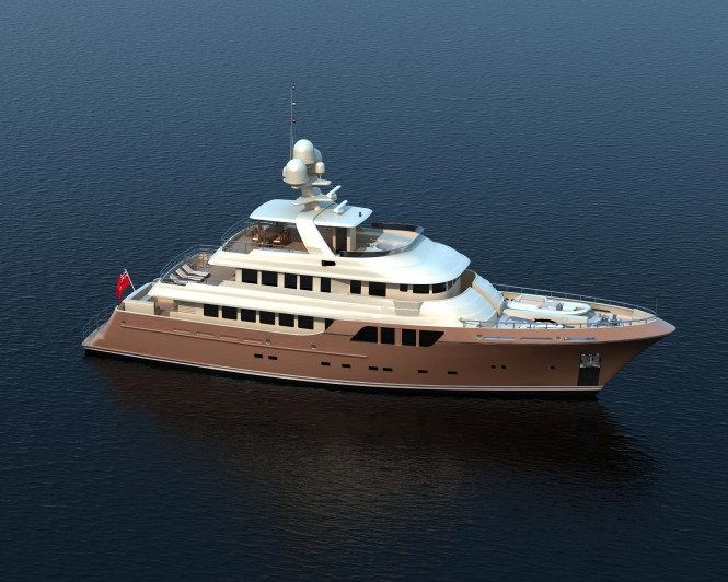 MCC 38m Superyacht - Image credit to MCC