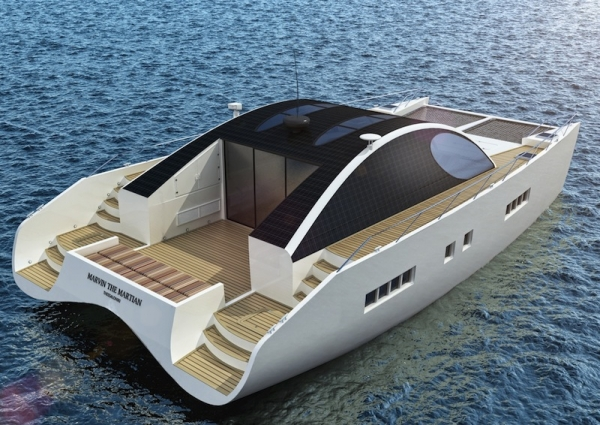 Wooden power catamaran boat plans | Franse