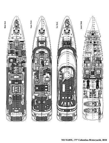 Motor Yacht Layout Columbus 177
