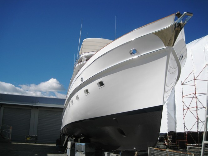 Motor Yacht Sea Breeze After Paint Job Luxury Yacht