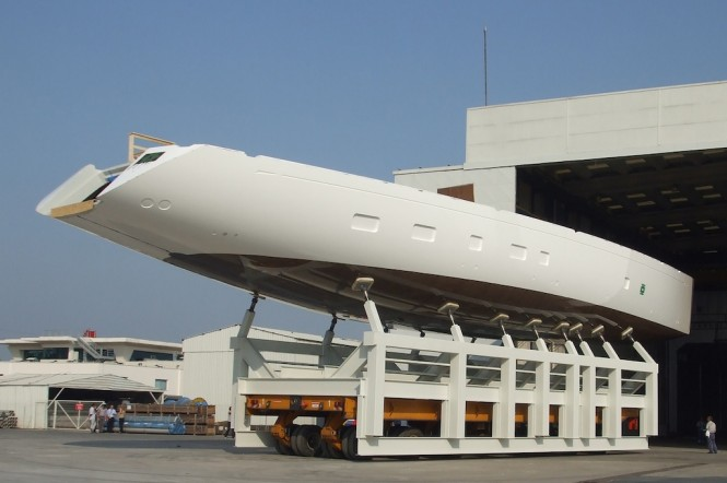 Oyster 125 Yacht Hull - Image courtesy of Oyster Marine