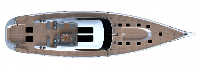 Oyster 855 sailing yacht layout - Photo Credit Oyster Marine