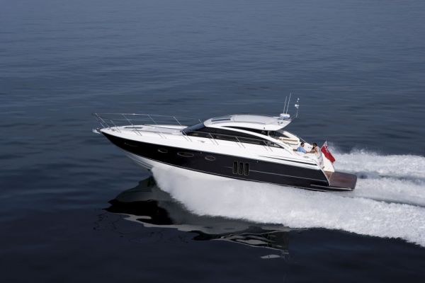 ... sports yacht of this size is available with an enclosed deck saloon, ...