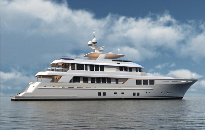 Rmk bn80 yacht progress at the monaco yacht show luxury yacht