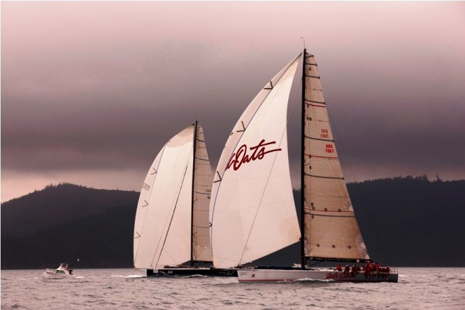 Racing yachts Wild Oats X and Black Jack - Day 1 Hamilton Island Race Week