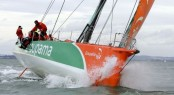 Record breaker - Groupama finishing the Sevenstar Round Britain and Ireland Race Photo  Patrick EdenRORC