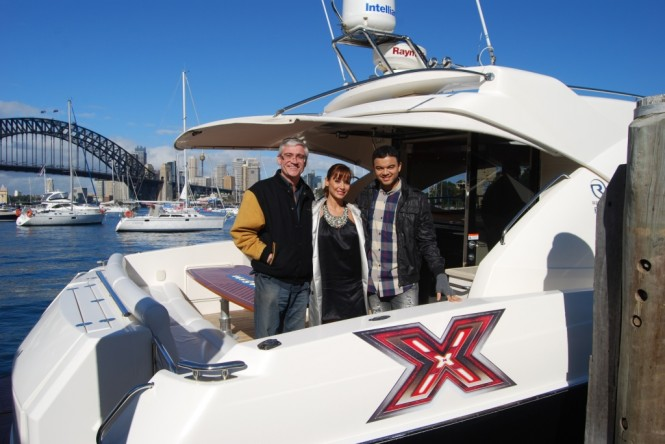 ... and Guy Sebastian on board a Riviera Sport Yacht - Photo Credit Riviera
