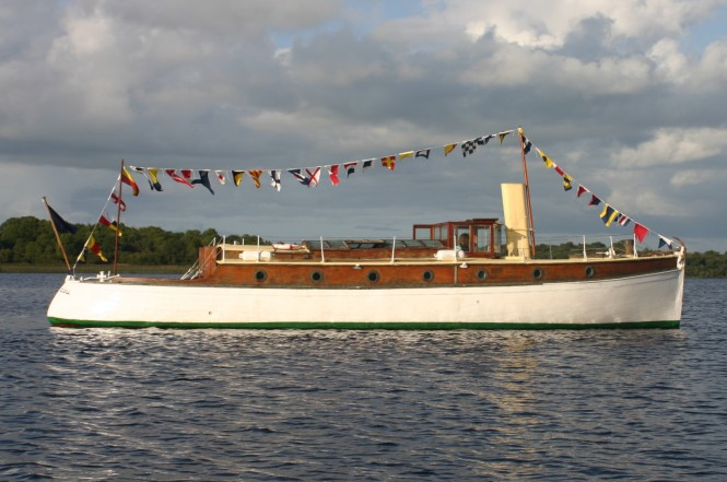 Seagull, built for the Shackleton family in 1911, is a beautiful example of a gentleman's cruiser and will make a wonderful addition to the Classic Regatta display. Photo Credit Calssic Sail Ireland