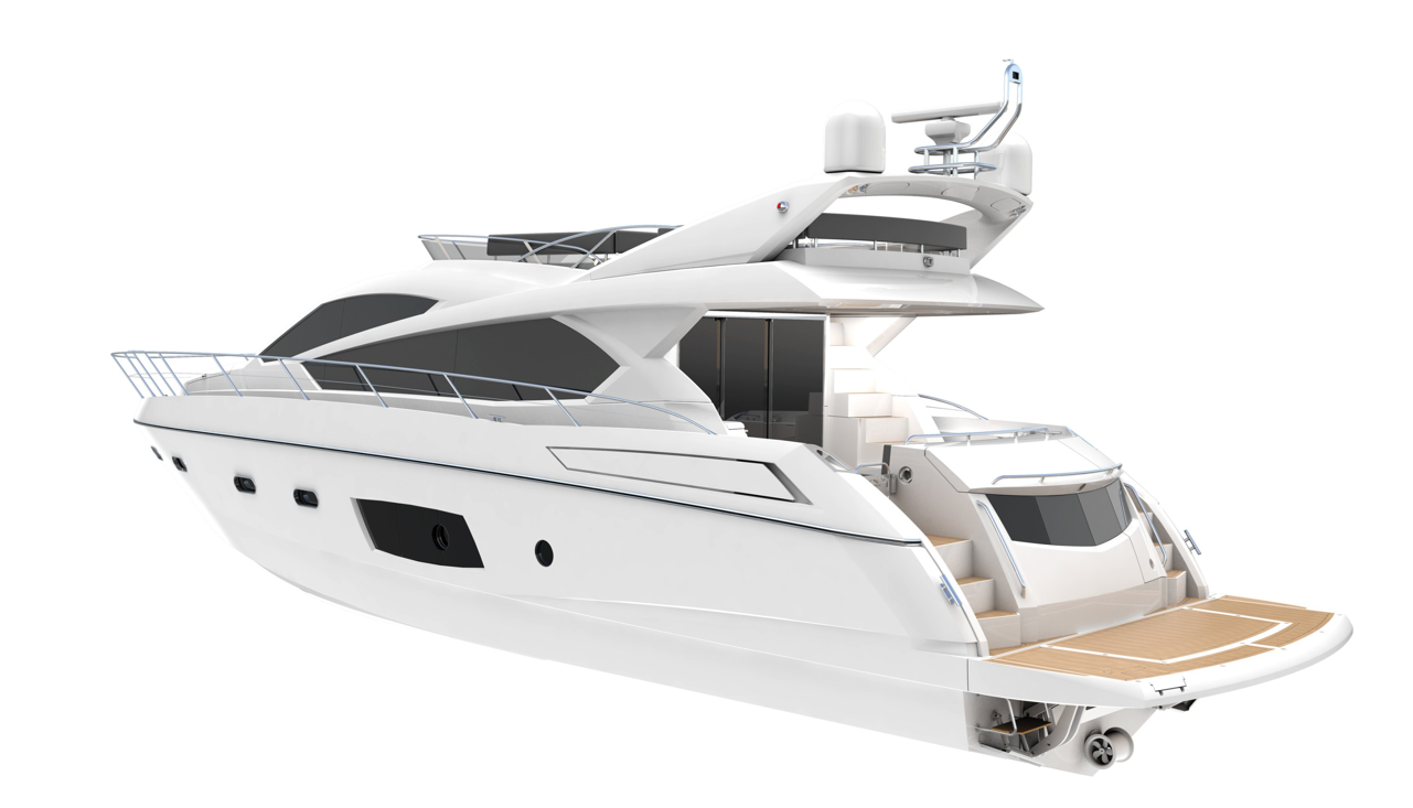 Sunseeker Manhattan 63 motor yacht aft view