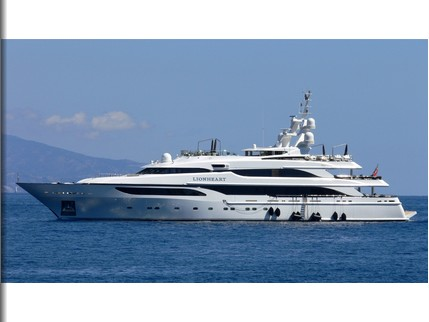 Superyacht Lionheart repainted at ACA Marine