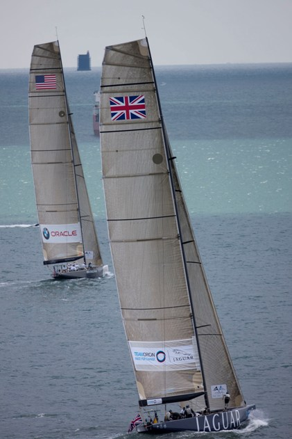 The 1851 Cup -Racing - Day 3 - Round the Island Race Photographer Gilles Martin-Raget  BMW ORACLE.