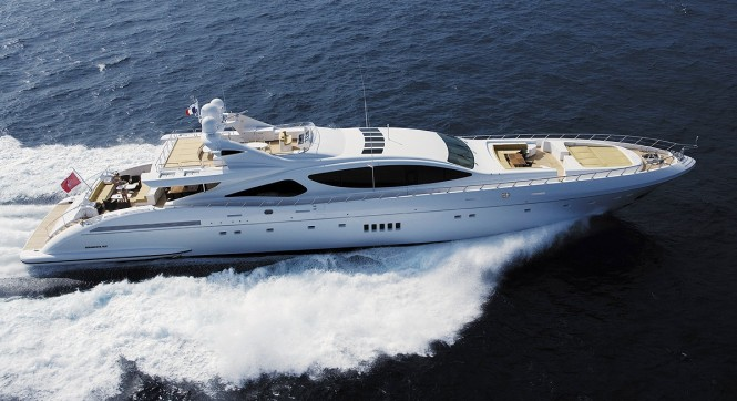 The Mangusta 165 Motor Yacht Series of which superyacht RUSH is the fifth