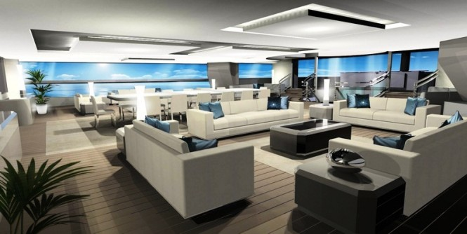100m mega sailing yacht by Design Unlimited and Reichel Pugh Yacht Design Salon