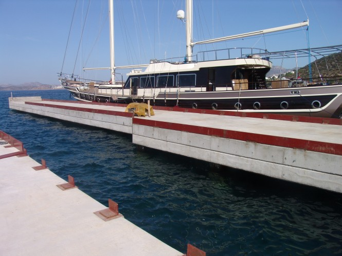 Aganlar boatyard moves quickly towards completion and opening at the end of October - Photo Credit Aganlar Boatyard