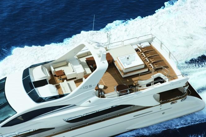 Azimut 105 Yacht from above - Image courtesy of Azimut