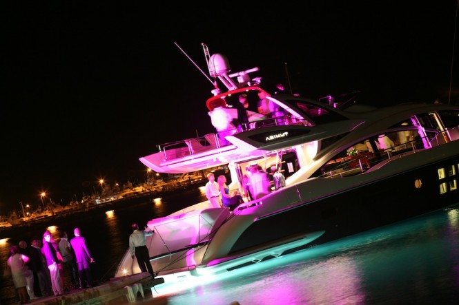 Azimut 72S yacht in Cannes. Public acclaim. Representing three of the four ...