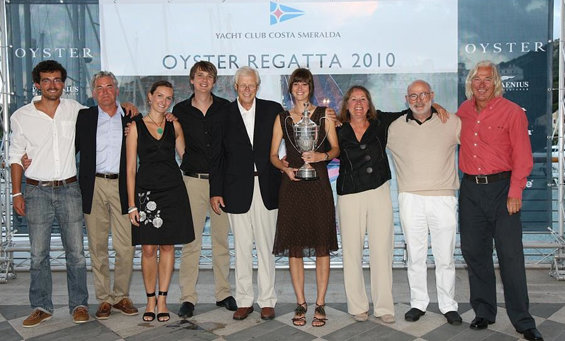 Class 2 winners, Gerd and Annemarie Köhlmoss, Oyster 54 Sarabande - Photo ...