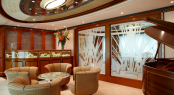 Feadship Super Yacht Lady Christine - Main Deck Lounge - Mini Deck Bar
