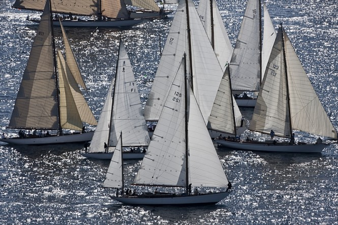 Fleet at the start of Les Voiles de Saint-Tropez - Photo credit Rolex  Carlo Borlenghi.