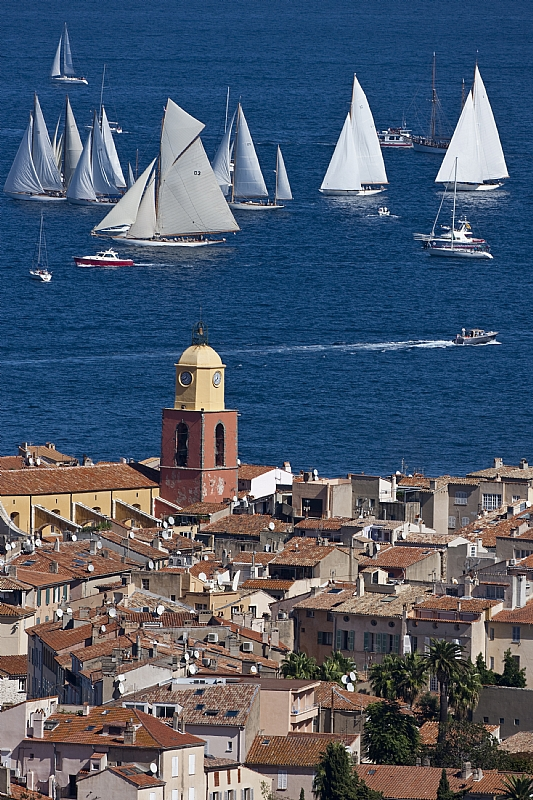 Fleet at the start of Les Voiles de Saint-Tropez 2010 - Photo credit Rolex Carlo Borlenghi.