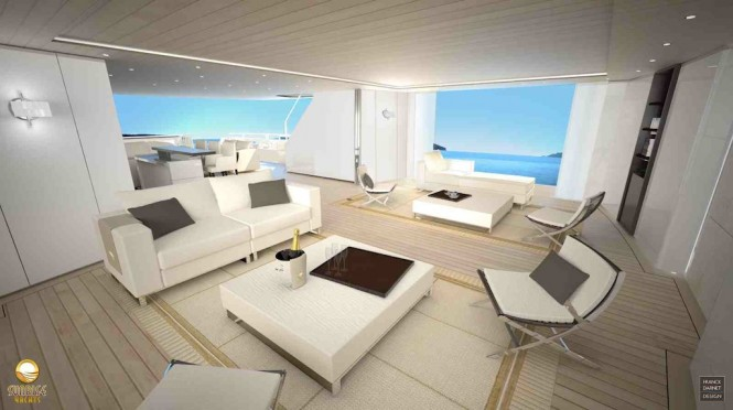 Main Deck Salon on the Sunrise 47 m Super Yacht