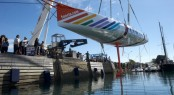 New 60 foot Imoca 60 Sailing yacht FONCIA at her launch - Photo Credit Yvan Zedda Team FONCIA