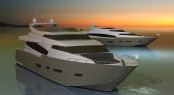 Pro Ship 28m Fly motor yacht by Antonio Luxardo