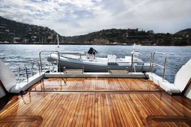 Sanlorenzo's first steel megayacht The 46 Steel super yacht Lammouche Beach ...