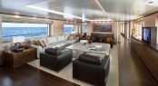 Sanlorenzo's first steel megayacht The 46 Steel super yacht Lammouche Interior - Photo Credit Sanlorenzo