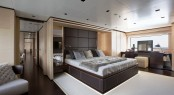 Sanlorenzo's first steel megayacht The 46 Steel super yacht Lammouche Owners Suite - Photo Credit Sanlorenzo