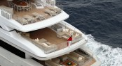 Sanlorenzos first steel megayacht The 46 Steel super yacht Lammouche Aft View - Photo Credit Sanlorenzo