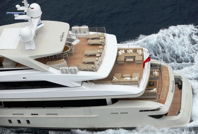 Sanlorenzos first steel megayacht The 46 Steel super yacht Lammouche Decks - Photo Credit Sanlorenzo