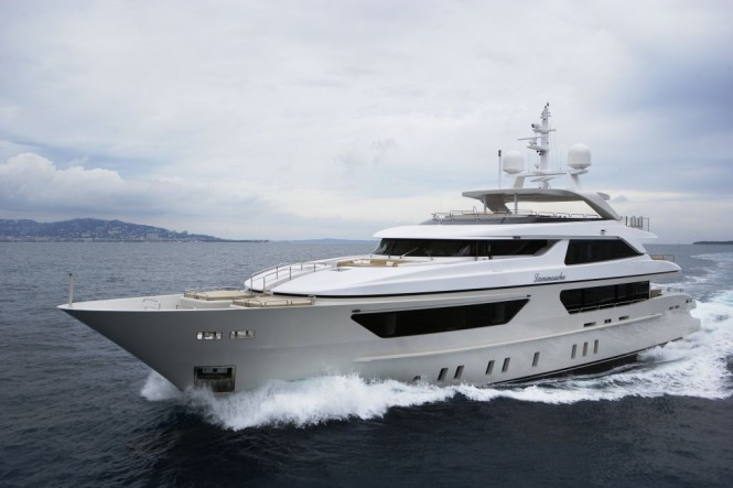 Sanlorenzos first steel megayacht The 46 Steel super yacht Lammouche Exterior - Photo Credit Sanlorenzo