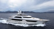 Sanlorenzos first steel megayacht The 46 Steel super yacht Lammouche Running shot - Photo Credit Sanlorenzo