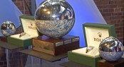 Trophy and Rolex timepieces from the 2007 ISAF Rolex World Sailor of the Year Awards - Image credit to Carlo Borlenghi - Rolex