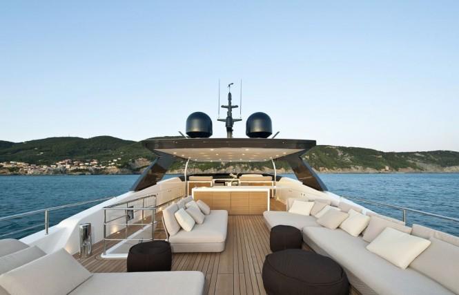 2010 Sanlorenzo SL100 New flying bridge motor yacht Flybridge view
