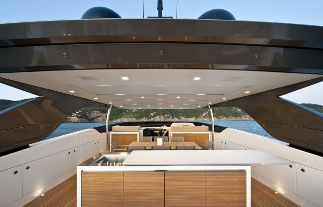 2010 Sanlorenzo SL100 New flying bridge motor yacht with Sliding Boffi ...