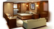 30m Super Catamaran Q5 (hull YD66) by Yachting Developments - Owners Cabin
