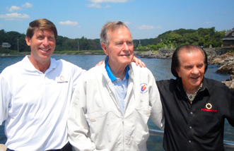 Former US President George H.W. Bush takes Delivery of new Fountain Powerboat - Credit  Fountain Powerboats