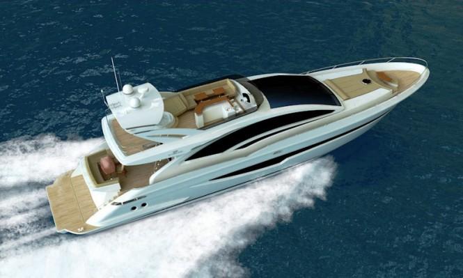 Intermarine 85' flybridge motor yacht by Luiz de Basto Designs